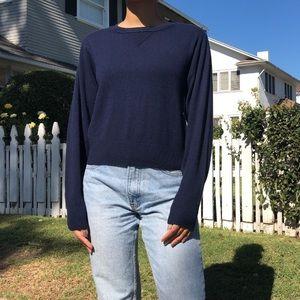 Vince blue cashmere crewneck sweater